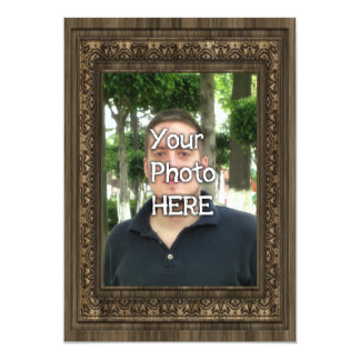 Your Photo Here Wood(Print) Frame Invitation