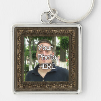 Your Photo Here Wood(Print) Frame Keychain