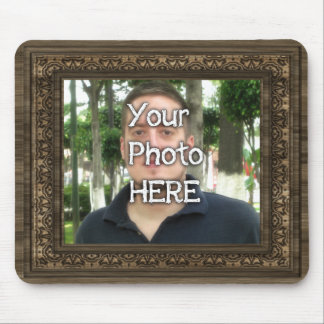 Your Photo Here Wood(Print) Frame Mouse Pad