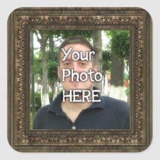 Your Photo Here Wood(Print) Frame Stickers