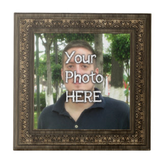 Your Photo Here Wood(Print) Frame Tile