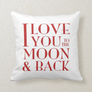 Your photo & 'I love you to the moon & back' Pillow