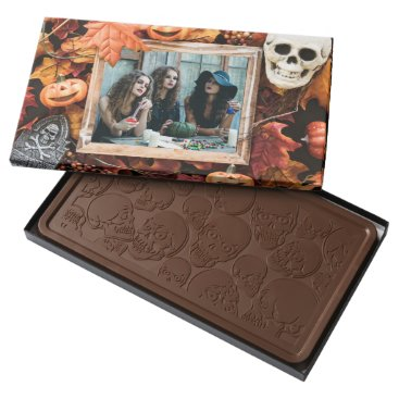 Halloween Themed YOUR PHOTO in a Halloween Frame chocolate box