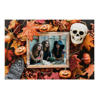 YOUR PHOTO in a Halloween Frame custom poster