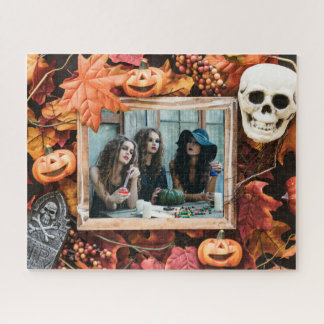 YOUR PHOTO in a Halloween Frame custom puzzle