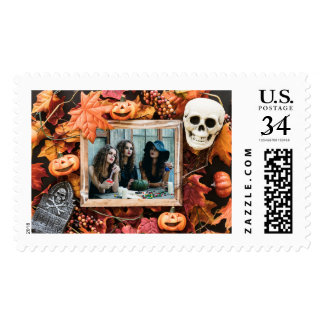 YOUR PHOTO in a Halloween Frame custom stamps