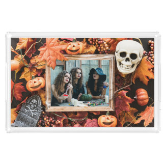 YOUR PHOTO in a Halloween Frame custom trays