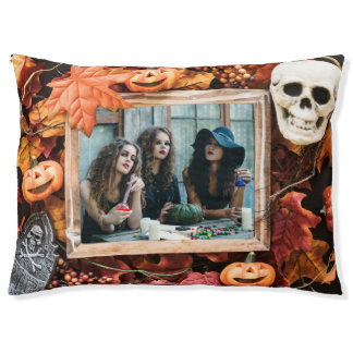 YOUR PHOTO in a Halloween Frame dog beds