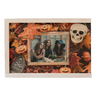 YOUR PHOTO in a Halloween Frame keepsake box
