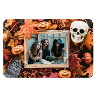 YOUR PHOTO in a Halloween Frame magnet