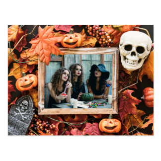 YOUR PHOTO in a Halloween Frame postcard