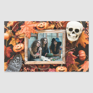 YOUR PHOTO in a Halloween Frame stickers