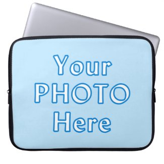 YOUR PHOTO Laptop Case for 10 to 15 inch Computers