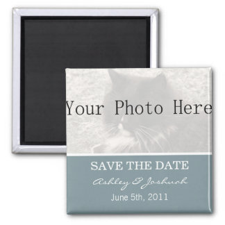 Your Photo- Light Blue Save The Date Magnets