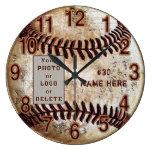 Your Photo, Logo Personalized Baseball Wall Clock