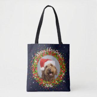 Your Photo Merry Christmas Tote Bag
