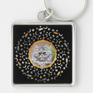Your Photo Moon & Stars Keychain