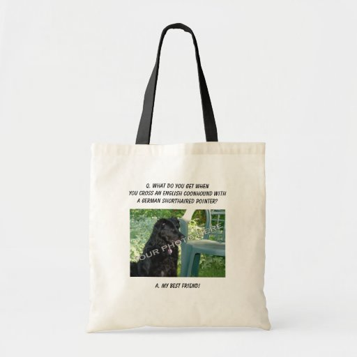Your Photo! My Best Friend English Coonhound Mix Budget Tote Bag