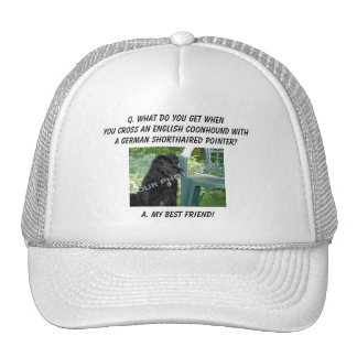 Your Photo My Best Friend English Coonhound Mix Trucker Hats