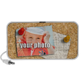 Your Photo on a Bulletin Board PC Speakers