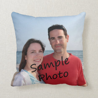 Your Photo On A Pillow at Zazzle