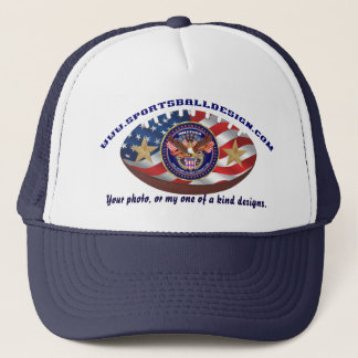 Your photo, or my one of a kind designs. trucker hat