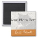 Your Photo- Orange Best Friends Magnet