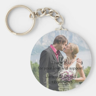 Your Photo Personalized Key Ring Wedding Favor Basic Round Button Keychain