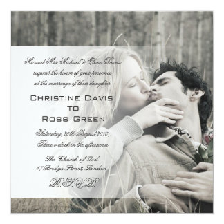 Your photo personalized wedding invitation