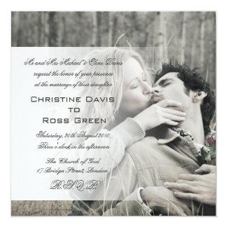 """Your photo personalized wedding invitation 5.25"""" square invitation card"""
