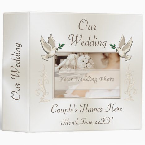 Your Photo Personalized Wedding Photo Album Binder