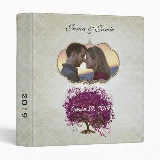 Your Photo Sangria Heart Leaf Tree Wedding Binder