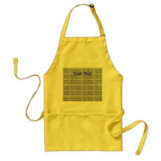 Your Photo & Text Yellow Standard Apron Template