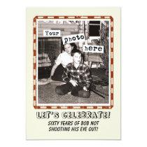 Your Photo Vintage Cowboy Party Invitation