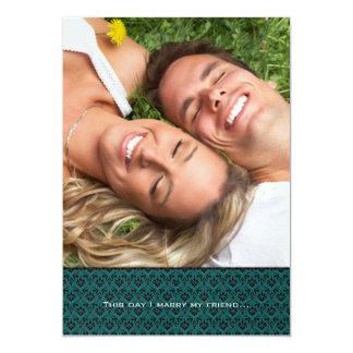 Your Photo Wedding Invitation- I marry my Friend Card