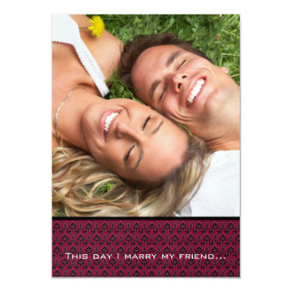 Your Photo Wedding Invite- I marry my Friend-Berry Card