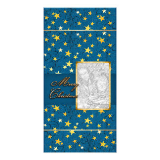 Your Photo with Christmas Stars Card