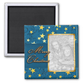 Your Photo with Christmas Stars Magnet