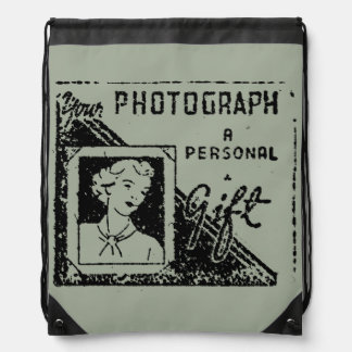 your photograph drawstring backpack