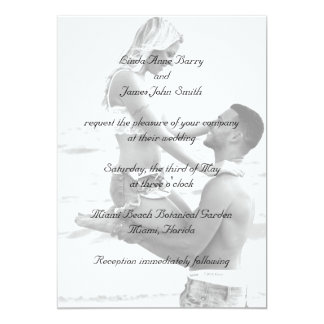 Your Photograph on Wedding Invitations