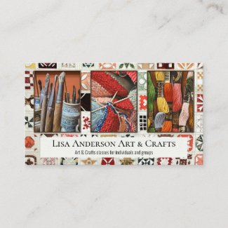 Your Photos Arts and Crafts Creative Business Card