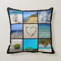 Your Photos Collage Template Throw Pillow