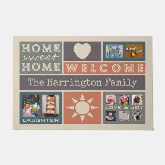 YOUR PHOTOS custom collage template door mat
