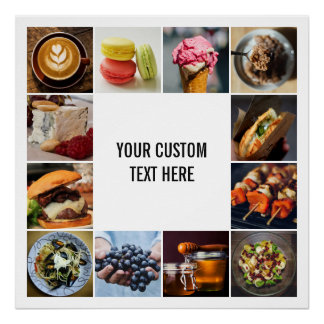 YOUR PHOTOS custom collage template poster