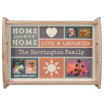 YOUR PHOTOS custom collage template serving tray