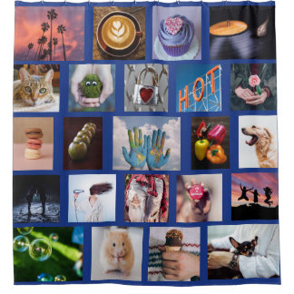 YOUR PHOTOS custom collage template shower curtain
