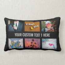 YOUR PHOTOS custom collage template throw pillow