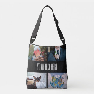 YOUR PHOTOS custom collage template tote bags
