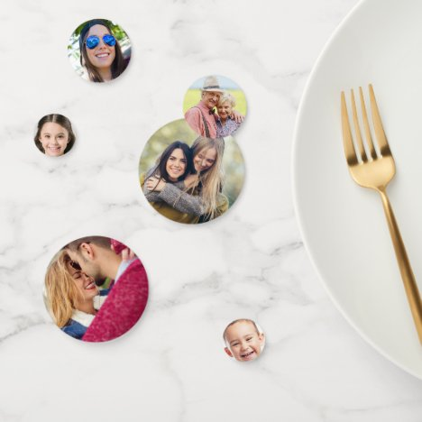 YOUR PHOTOS custom table confetti