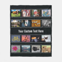 YOUR PHOTOS custom template fleece blanket